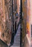 21. Januar 2017: Straßen der alten Stadt von Stockholm, Schweden Stockfoto