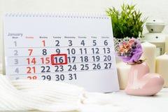 16. Januar Tag 16 des Monats Lizenzfreie Stockbilder