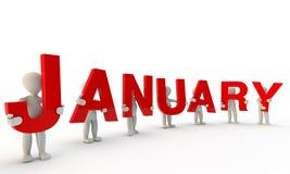 Januari vector illustratie