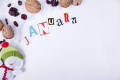 januari Arkivfoton