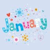 januari royalty-vrije illustratie