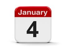 4 Januari royalty-vrije illustratie