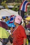 Januari 5, 2014: Anti--regering personer som protesterar på Democra Royaltyfri Fotografi