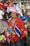 Januari 5, 2014: Anti--regering personer som protesterar på Democra Royaltyfria Bilder