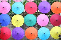 19,2018 januari, BO Sang Umbrella Festival Gehouden in Januari van elk jaar BO Sang Umbrella Handicraft Centre San Kamphaeng dist royalty-vrije stock afbeeldingen