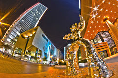 1 januari, 2014, Charlotte, nc, de V.S. - nachtleven rond charlot Royalty-vrije Stock Fotografie