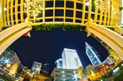 1 januari, 2014, Charlotte, nc, de V.S. - nachtleven rond charlot Stock Fotografie