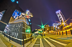 1 januari, 2014, Charlotte, nc, de V.S. - nachtmening van Carolina p Royalty-vrije Stock Fotografie