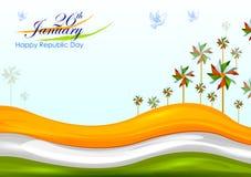 26 Januari, de Gelukkige Dag van de Republiek van India stock illustratie