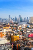 23 januari, de horizon van Bangkok, cityscape Bangkok, Thailand Bangkok is Royalty-vrije Stock Afbeeldingen