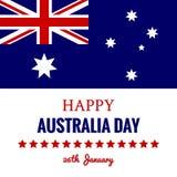 Januari för lycklig Australien dag 26 festlig design royaltyfri illustrationer