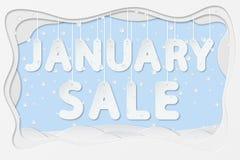 Januari försäljningstext vektor illustrationer