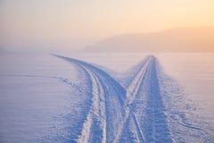 Januari frostig dag Arkivfoton