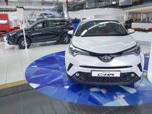 21 januari, het de luxe officiële handel drijven van de Oekraïne Kiev Toyota van 2018 toont ruimte Royalty-vrije Stock Foto's