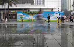 21 januari, 2015, Hong Kong: het langzame snelheidsblind toont Kinderen Royalty-vrije Stock Foto's