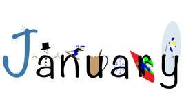 Januari illustration vektor illustrationer