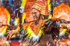 24 januari 2016 Iloilo, Filippijnen Festival Dinagyang Unid Royalty-vrije Stock Foto's