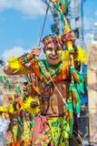 24 januari 2016 Iloilo, Filippijnen Festival Dinagyang Unid Royalty-vrije Stock Foto