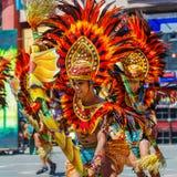 24 januari 2016 Iloilo, Filippijnen Festival Dinagyang Unid Stock Foto's