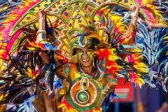 24 januari 2016 Iloilo, Filippijnen Festival Dinagyang Unid Stock Afbeelding