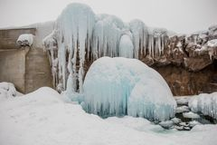 Januari insnöade Hokkaido, Japan royaltyfria foton