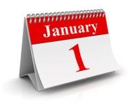 Januari 1 kalender stock illustrationer