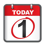 Januari-kalender Royalty-vrije Stock Afbeelding