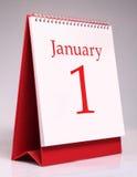 Januari-kalender Royalty-vrije Stock Foto's