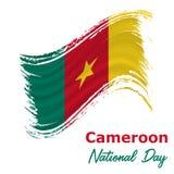 1 januari Kamerunsjälvständighetsdagenbakgrund vektor illustrationer