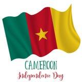 1 januari Kamerunsjälvständighetsdagenbakgrund royaltyfri illustrationer
