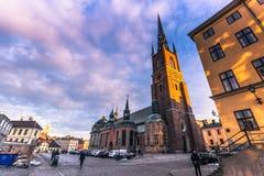 21 januari, 2017: Kerk van Riddarholm in Stockholm, Zweden Royalty-vrije Stock Afbeeldingen
