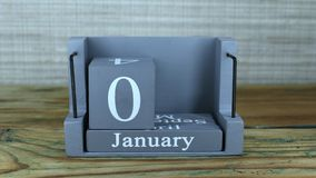 6 Januari, kubuskalender stock footage