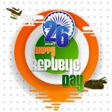26 Januari lycklig republikdag av Indien bakgrund vektor illustrationer