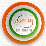 26 Januari lycklig republikdag av Indien bakgrund royaltyfri illustrationer