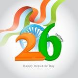 26 Januari, lyckligt begrepp för republikdagberöm med illustra vektor illustrationer