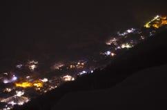 Januari-nacht Stock Afbeeldingen