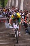 Januari Nesvatba - de fietsras 2011 van Praag Stock Foto's