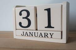 31 Januari op kalender, de uiterste termijn voor belasting aangaande Stock Fotografie