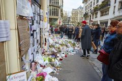 JANUARI 18, 2015 - PARIS: Royaltyfri Bild