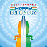 26 Januari republikdagen av Indien Arkivfoto