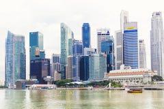 15 Januari 2016, Singapore - Landschap van financieel district Royalty-vrije Stock Afbeelding