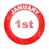 Januari 1st stock illustrationer