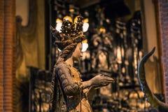21 januari, 2017: Standbeeld van een heilige in de Kathedraal van Stockhol Stock Foto