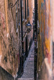 21 januari, 2017: Straten van de oude stad van Stockholm, Zweden Stock Foto