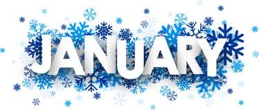 Januari tecken royaltyfri illustrationer