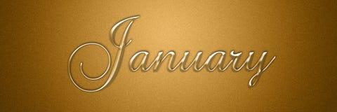 Januari texttitel för månadbakgrundsdesign vektor illustrationer