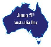 Januari 26th Australien dag stock illustrationer