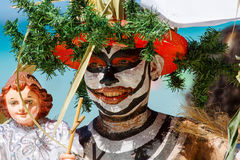 Januari 10th 2016 Boracay Filippinerna Festival ATI-Atihan U Fotografering för Bildbyråer