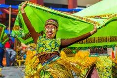 Januari 24th 2016 Iloilo Filippinerna Festival Dinagyang Unid arkivbilder