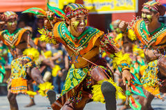Januari 24th 2016 Iloilo Filippinerna Festival Dinagyang Unid royaltyfria foton